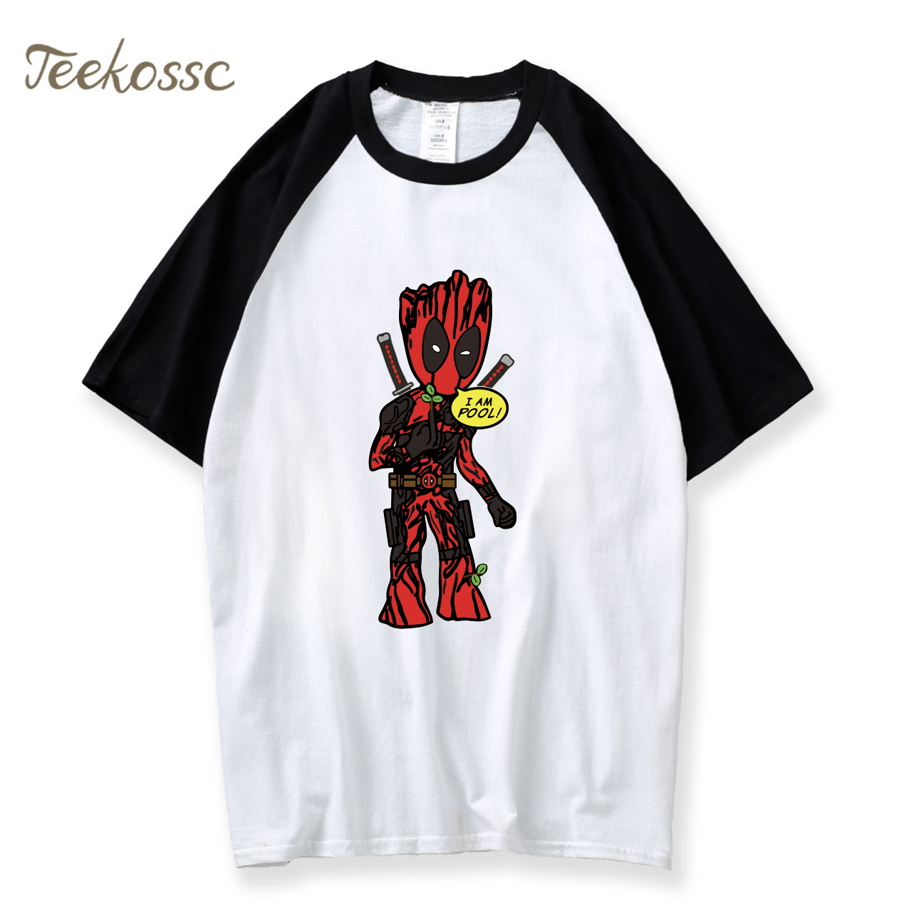 I AM GROOT T Shirt Men DeadPool Super Hero Harajuku Tshirt 2018 Summer Tee Fitness Crossfit T Shirts Cotton Dead Pool T-Shirt