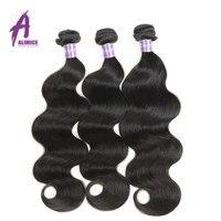Бразильские тела пучки волнистых волос 8-30 дюйм(ов) человеческие волосы Weave Связки натуральный наращивание черных волос 1 3 4 Связки alimice NoRemy