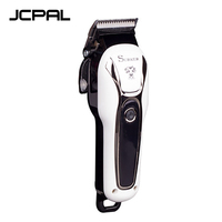 JCPAL Pet Haircut Electric Clipper Professional LCD High Power White Electric Clippers Dog Hair Trimmer With Nail Cutting