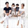 2017 Новый семьи сопоставления одежда детей летом мать сына с коротким рукавом Футболки приливная пляж пары clothing