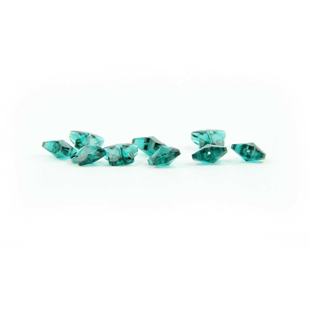 Ослепительный изумрудно-зеленый 100 шт 14 мм с открытыми пальцами и кристальной бабочкой люстра с бусинами в одном среднее отверстие для хрустальная люстра Запчасти