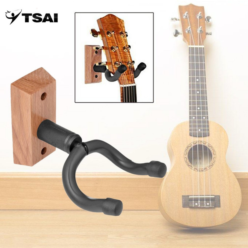 US $7 19 50% OFF|TSAI Guitar Hanger Wall Mount Display Stand Universal  Adjustable Violin Holder Musical Instrument Sponge Dropshipping-in Guitar  Parts