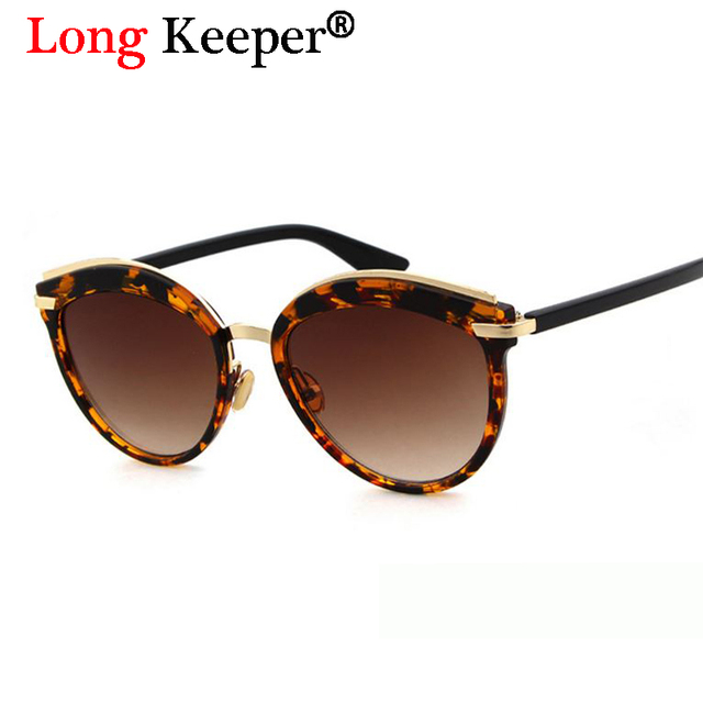 603859cbbe Long Keeper 2018 New Hot Sale Cat Eye Sunglasses Women Leopard Vintage  Gradient Sun Glasses For