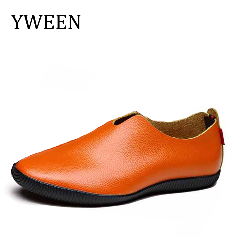 YWEEN Loafers Men's Shoes Spring Summer hot sale Slip-On Solid Soft Leather Men Casual Flats Oxford Shoes For Man summer leopard men shoes casual leather espadrilles flat loafers 2017 fashion spring vintage wedding oxford shoes