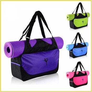 Многофункциональный йога Фитнес сумка Водонепроницаемый нейлон обучение через плечо спортивная сумка для Для женщин Фитнес путешествия в... >> HereJoy Store