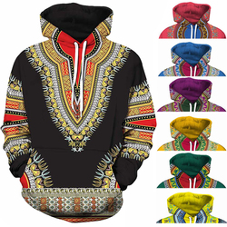 Spandex Impressão Tradicional Bordado Africano Bazin Riche Dashiki 3D África Do Hoodie Vestir Preto Roxo Vermelho Amarelo Azul Laranja Verde