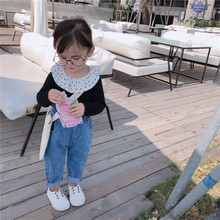 купить 2019 girls baby casual jeans infant trousers children's pants casual pants baby girl jeans girls spring and autumn loose jeans по цене 852.67 рублей