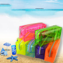 High Quality Transparent Pencil Case Candy Color Thick Plastic Pen Box School Office Supply Painting Brush Pens Storage Case(China)