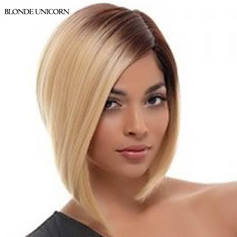 Blonde Unicorn Two Tone Color Synthetic Wigs For Women