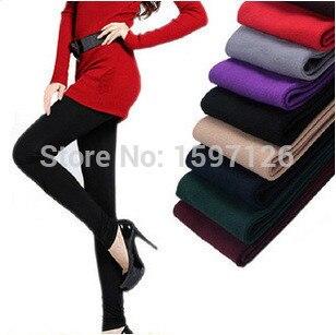 New 2015 Women Leggings Winter Fashion Legging for Women Autumn leggins Knitted Warm Candy Color