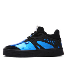 Fashion Men&women Casual Shoes Unisex Air Mesh Fluorescent blue Breathable Basket Shoes Superstar Outdoor Lacing sapatos casuais