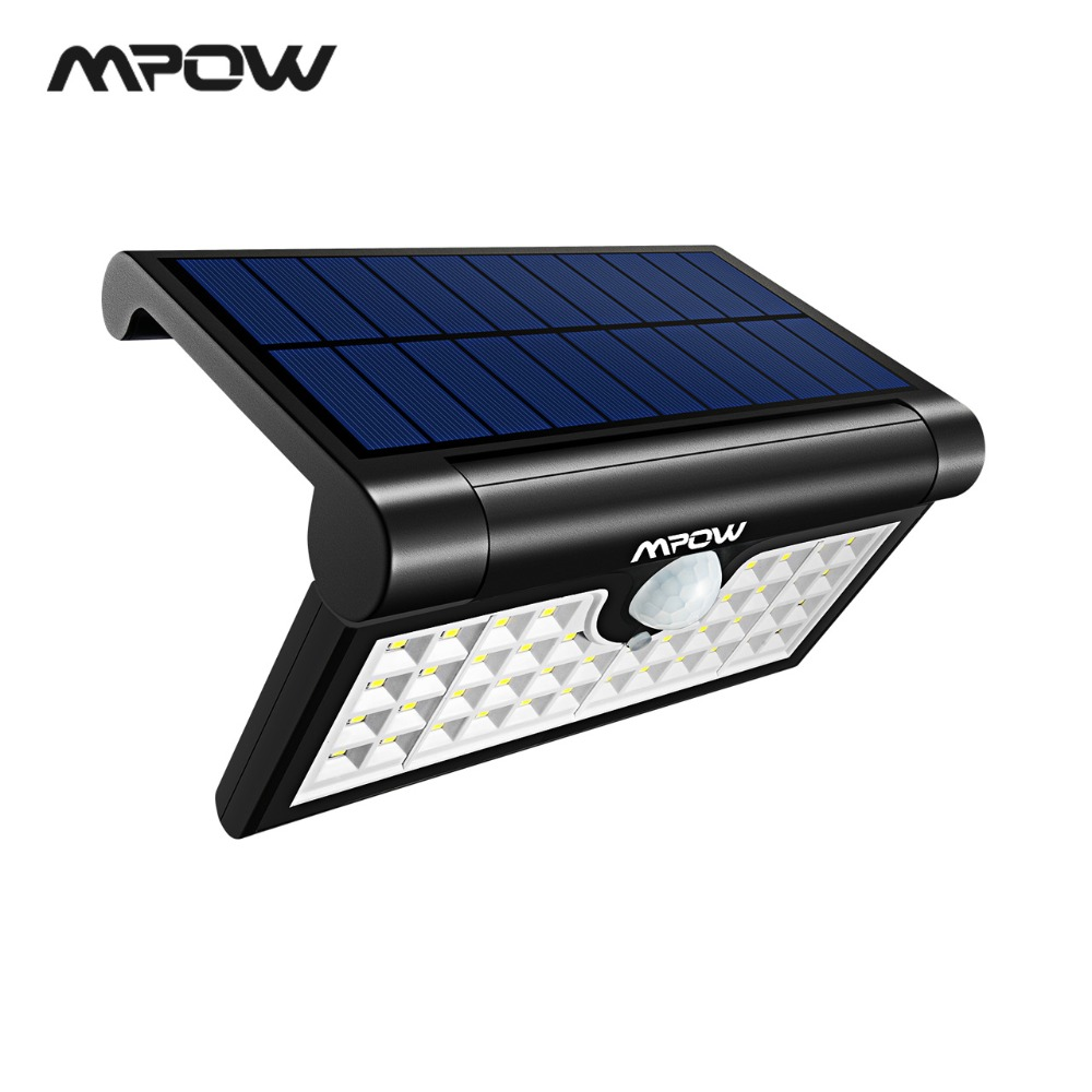 Mpow CD133 42 LED Solar Light Outdoor Solar Powered Wall Light 3 Adjustable Light Models For Yard Patio Garden Garage Pathway-in Solar Lamps from Lights & Lighting on Aliexpress.com | Alibaba Group