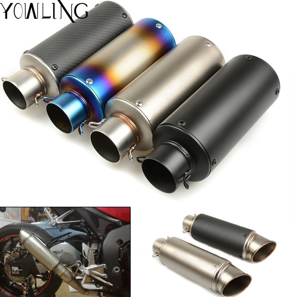 51 61mm Modified Motorcycle Exhaust Pipe Muffler Exhaust Mufflers For Suzuki GSXR 600 750 1000 SV650 GSR750 DL1000 2006 2017