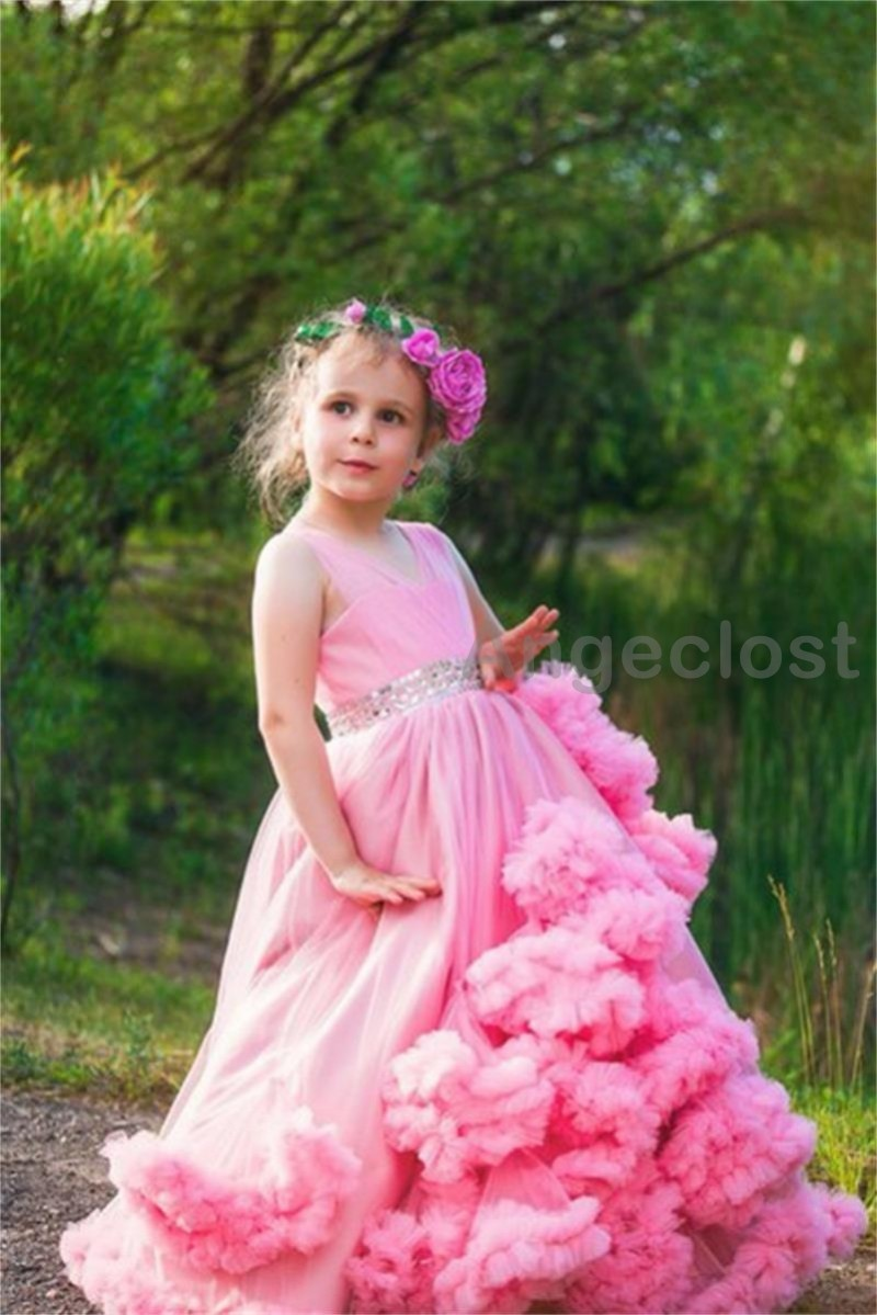 2017 Cloud Little Flower Girls Dresses For Weddings Baby Party ...