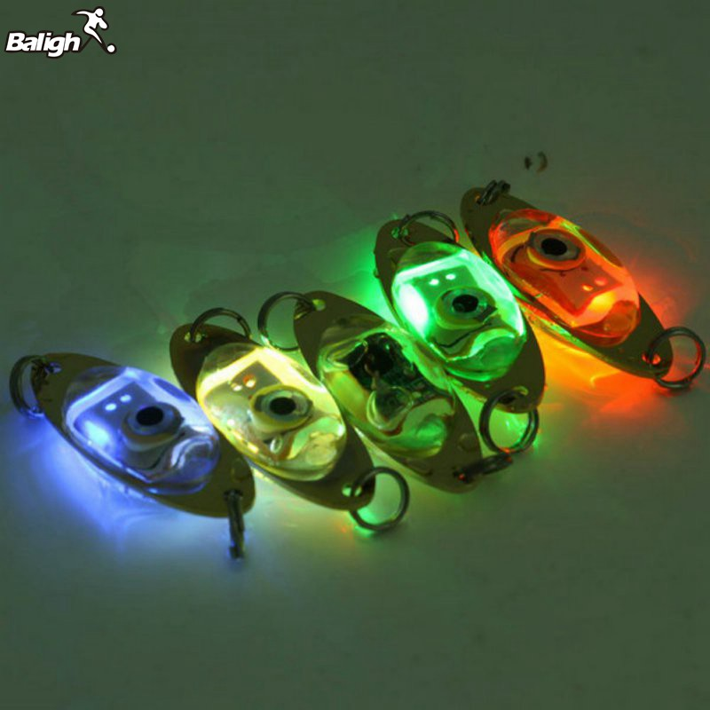 Balight Fish Lure Light LED Deep Drop Underwater Eye Shape Fishing Squid Flash Lamp 6 cm/2.4 inch