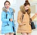 Nuevas mujeres abajo de la capa larga ropa embarazadas chaqueta de invierno abrigos manteau femme enceinte prendas de vestir exteriores vetements grossesse