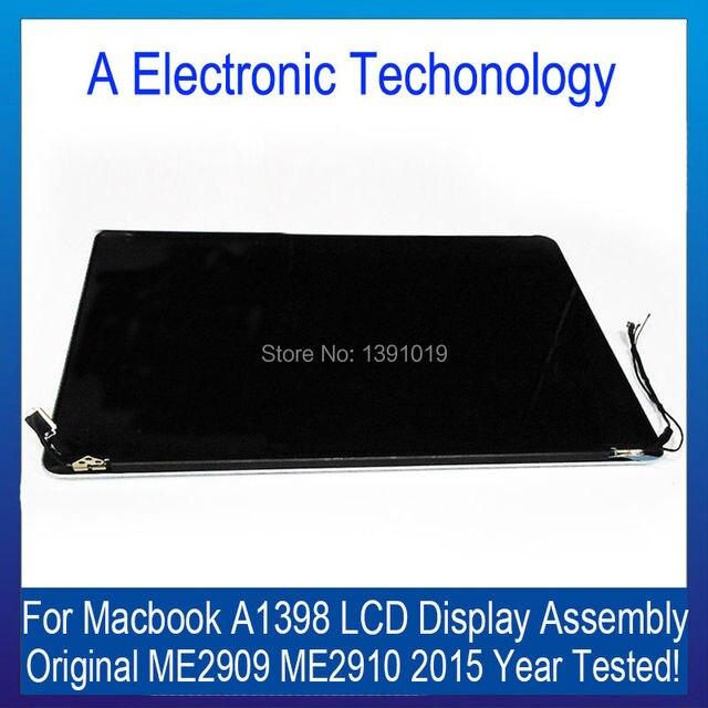 Оригинал Новое Качество 2015 Retina A1398 ЖК-Экран Compelet Ассамблеи для Macbook Pro Retina 15 ''Mid 2015 MJLC2 MJLQ2 MJLT2 LL/A