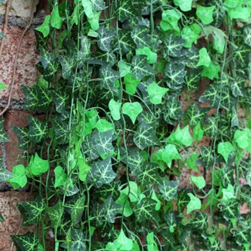 2.5M artificiel lierre vert feuille guirlande plantes vigne faux feuillage fleurs décor à la maison en plastique fleur artificielle rotin chaîne