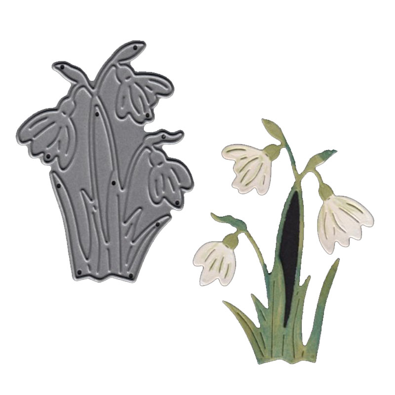 White crane flower Metal Cutting Die Embossing Decoration Card Album Photo Making Handmade Scrapbooking Template in Cutting Dies from Home Garden