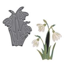 White crane flower Metal Cutting Die Embossing Decoration Card Album Photo Making Handmade Scrapbooking Template