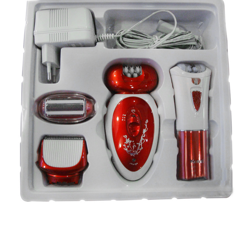 Km 3048 3 в 1 Электрический эпилятор перезаряжаемый многоцелевой женский Бритва для удаления волос уход за ногами батарея мощность бритвы купить на AliExpress