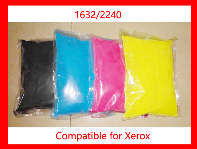High quality color toner powder compatible for Xerox 1632/2240 Free Shipping high quality color toner powder compatible hp cm8060 free shipping