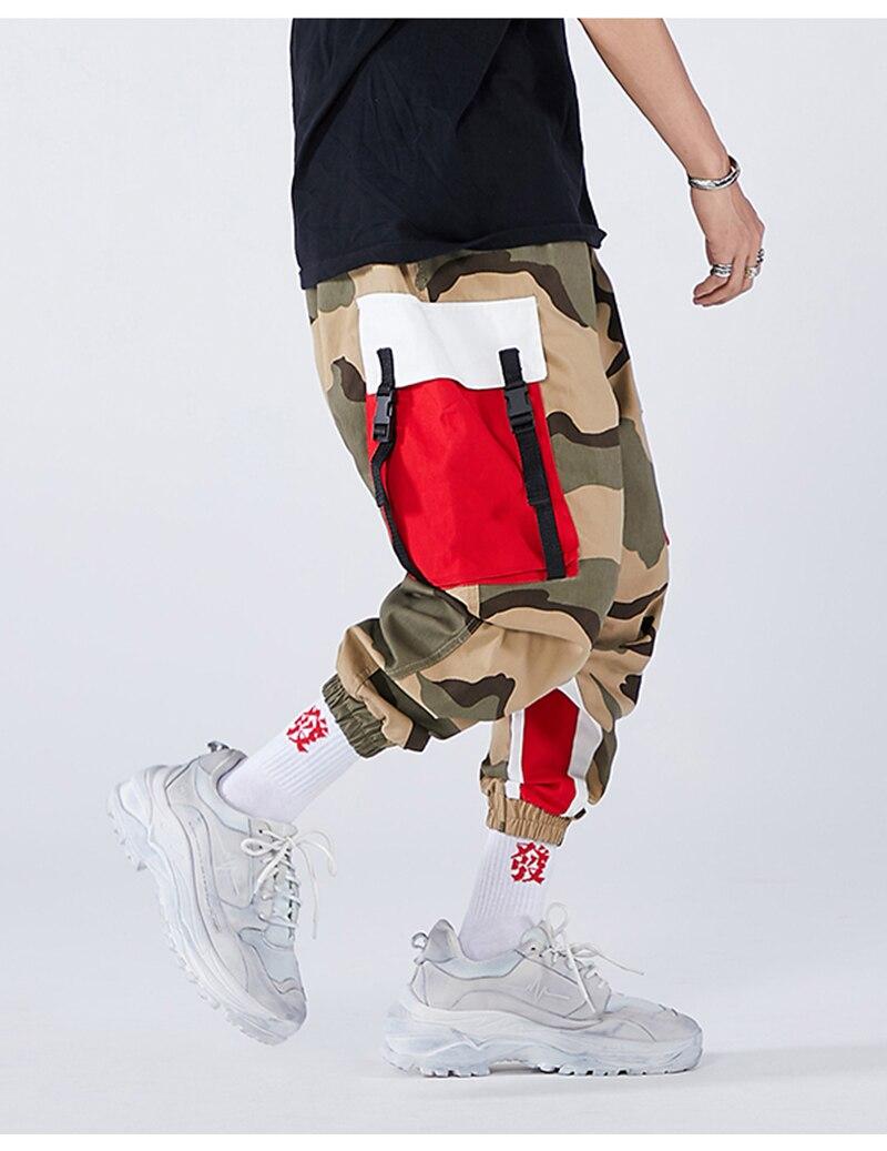 Aolamegs Men Side Strip Track Pants Pocket Pants Men Elastic Waist Sweatpants Casual Streetwear Hip Hop Men High Street Pants (9)