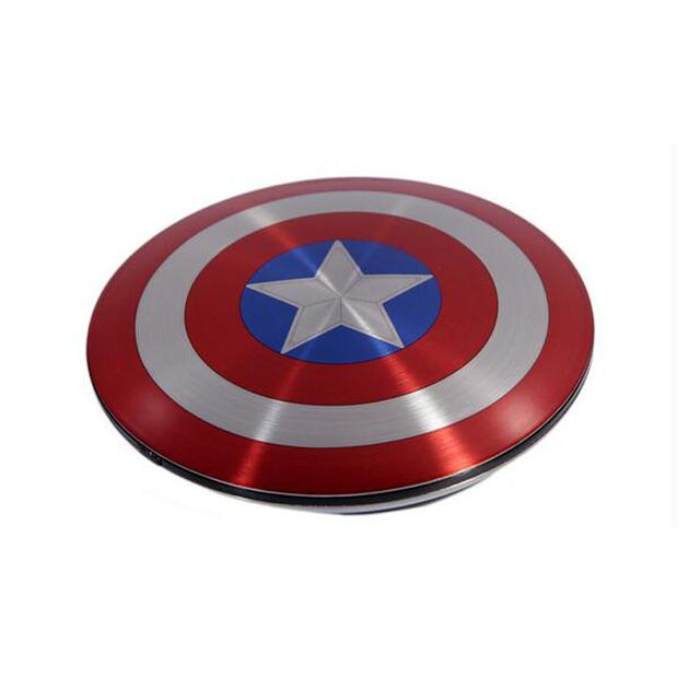 Avengers Captain America Shield Power Bank Charger USB 6800mAh for all mobile phone with Package free shipping