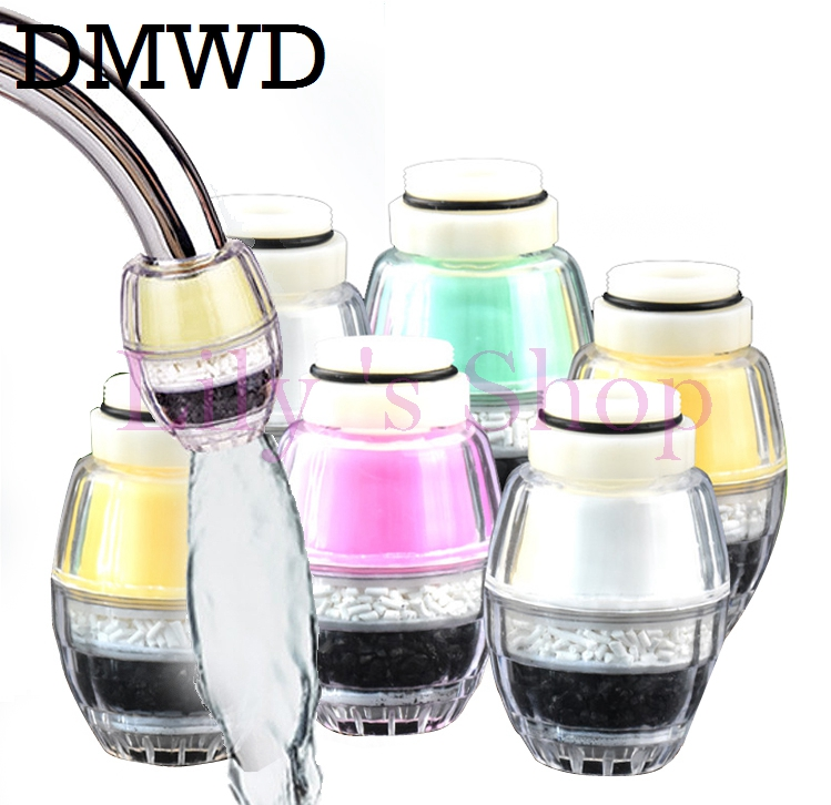 6 pcs Activated Carbon Kitchen mini Faucet Tap Water Clean Filters household Purifier Filter Sprayer Nozzle Filtration Cartridge