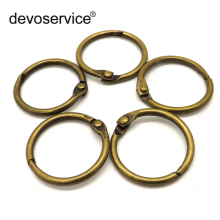 High Quality 10pcs Bronze Retro Metal Loose Leaf Book Binder Hinged Rings Keychain Album Scrapbook Craft for Scrapbooking Office