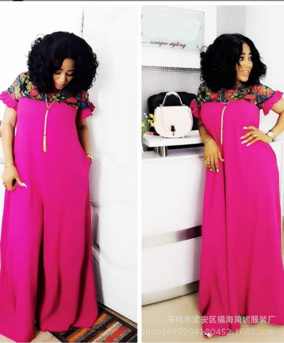 2019 Summer New Elegent African Women Long Dress