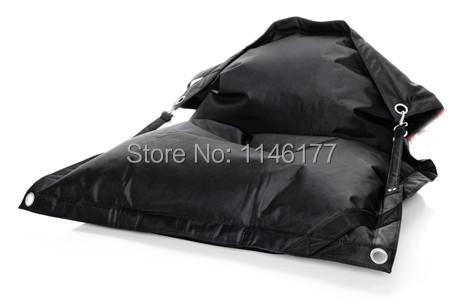 ФОТО Black Outdoor Living Room Furniture Beanbags Chair,waterproof Multifunction Garden Bean Bag,Adult Lazy Sofa Cover,Free Shipping