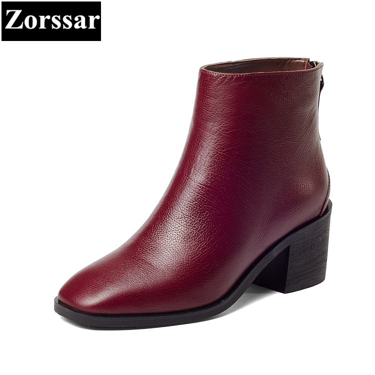 {Zorssar} brands 2018 new arrival fashion Women shoes Thick heel zipper ankle Chelsea boots Square Toe High heels womens boots zorssar brands 2018 new arrival fashion women shoes thick heel zipper ankle chelsea boots square toe high heels womens boots