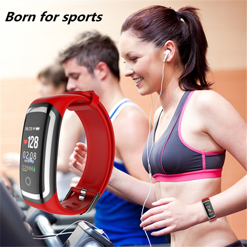 Wearpai M4 smart Heart rate band Color screen blood pressure passometer message call reminder fashion Sports smart bracelet IP67 in Smart Wristbands from Consumer Electronics