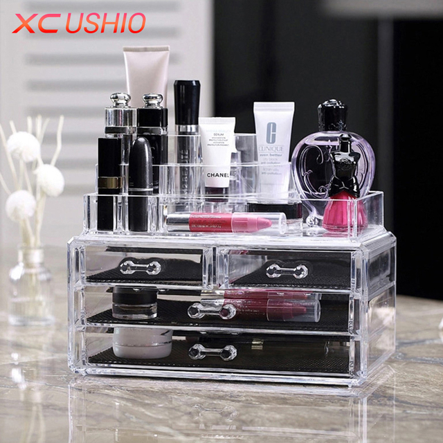XC USHIO Acrylic Makeup Storage Box Transparent Cosmetic Jewelry