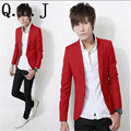 Q.E.J 2016 Spring New Arrival Fashion Candy Color Stylish Slim Fit Mens Jackets Jacket Casual Business Dress