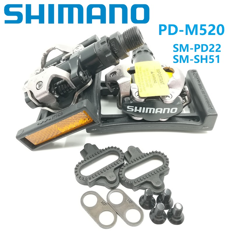 Wholesale Shimano SPD M520 Pedals MTB Mountain Bike Slft Locking Pedal & SM PD22  SH51 Cleat Set M520 M540 Bicycle Pedals