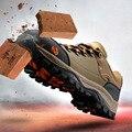 Modyf biqueira de aço sapatos de segurança do trabalho Dos Homens outono inverno quente simples botas à prova de punção resistência à derrapagem caminhadas ao ar livre calçado