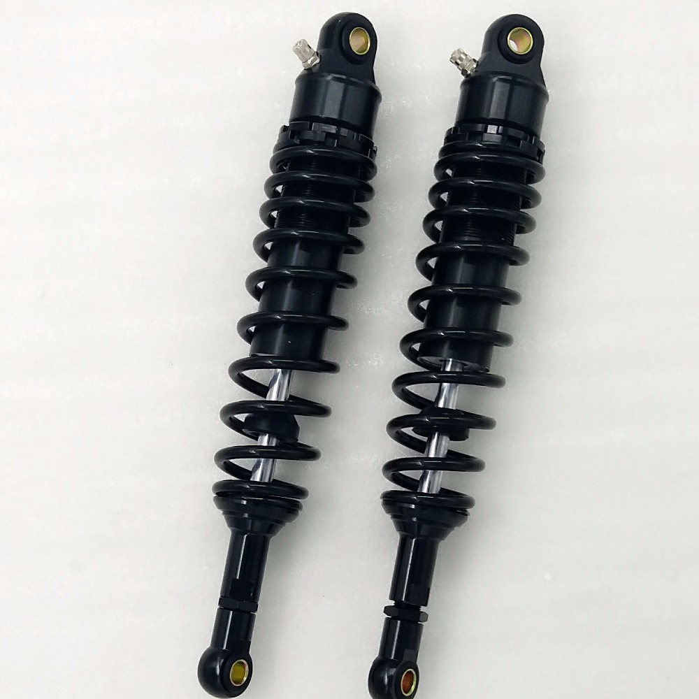 Universal 360mm Motorcycle 7mm spring nitrogen Shock Absorber Suspension for honda yamaha suzuki all Black