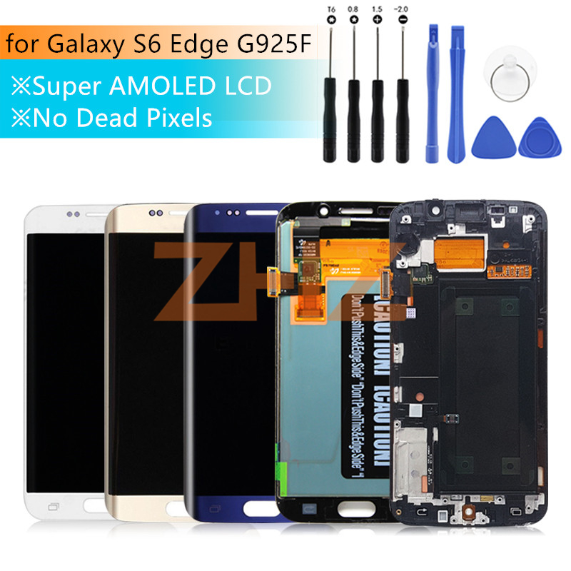 For Samsung Galaxy S6 Edge lcd display touch screen digitizer assembly G925 G925F SM G925F with