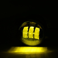 2PCS Pair 30W LED 4 Inch Yellow Round Fog Lights Lens Projector 4 Fog Lamp For