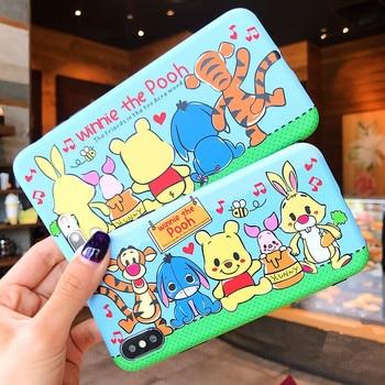 Cute Cartoon Phone Case For iPhone X 10 8 Plus 6 6s 7 Plus Winnie Pooh Stitch Tiger Soft TPU Bumper Protective Back Cover winnie the pooh iphone case