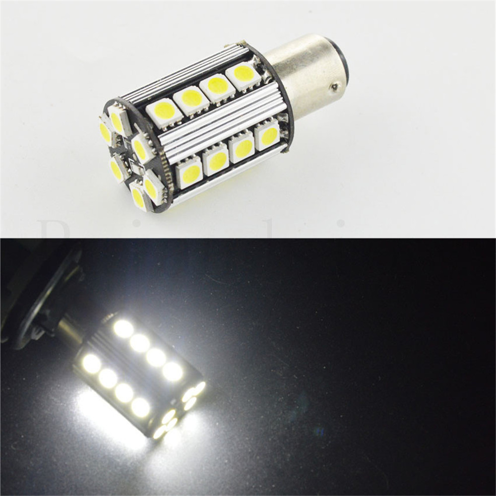 2 stks 1157 BAY15D P21/5 W 26 SMD 5050 LED Rood Witte Auto staart Lamp 21/5 W Remlichten ...