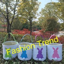 Buy easter gift baskets and get free shipping on aliexpress 10pcslot 4 colors stock tail bucket kids easter decoration negle Image collections