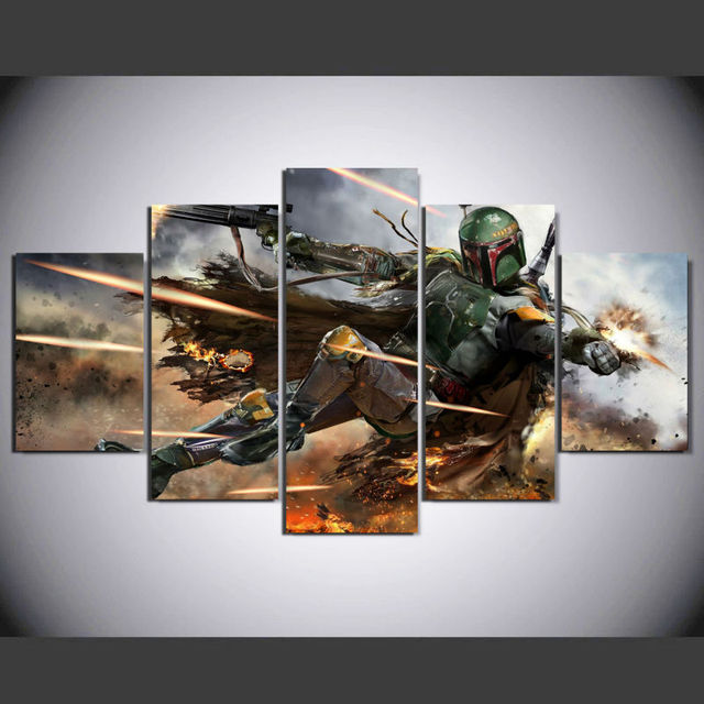 Star Wars HD Printed Boba Fett Canvas Picture Painting