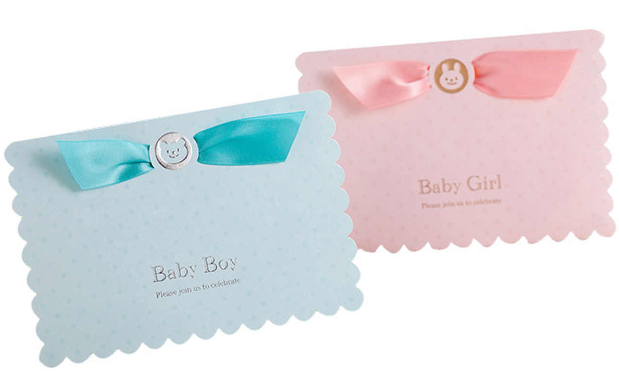 3d Pop Up Card Baby Shower Invitation Card 50pcs First