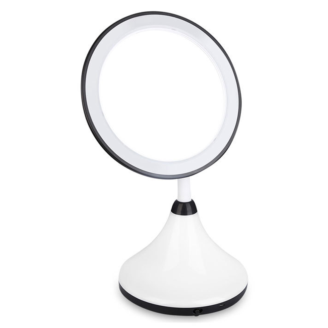 New Design Simple LED Table Lamp Makeup Mirror Cosmetic Tool Desktop Mirror With USB Line and Manual For Girl Gift