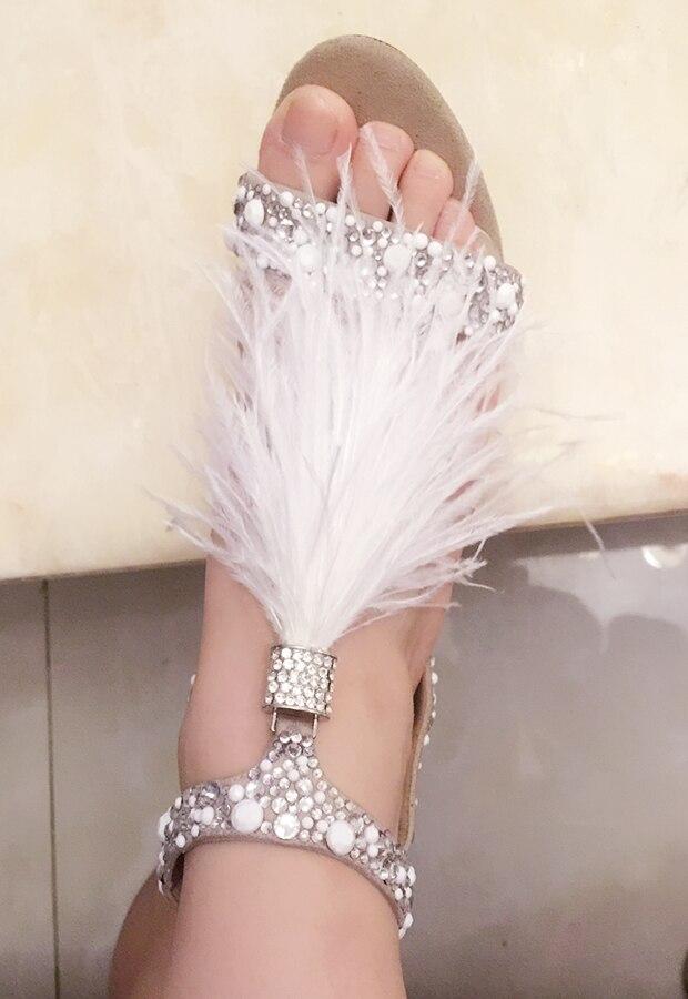 Para bar Zapatos Blanco T Tacón Picture Flecos Brillante Sandalias Imitación Picture Cristal Alto De Boda Mujeres Plumas as Real Diamantes Foto As fqYBIw