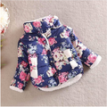 Baby Girls Outerwear Winter Flower Jacket Children Cotton-padded Coat Kids Overcoat Christmas Jackets For Girls