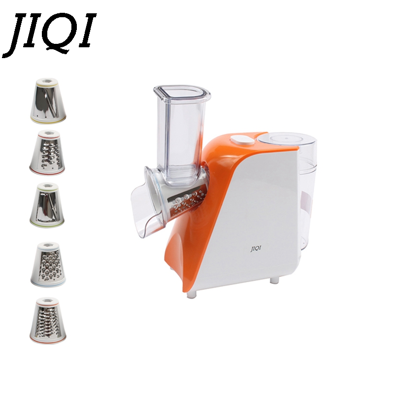 JIQI Household Slicer Cutter Blenders Multifunctional Grinder Fruit And Vegetable Cutters Water-ice Salad Maker With 5 Cutters